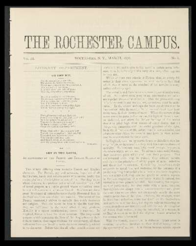 Rochester Campus (March 1876)