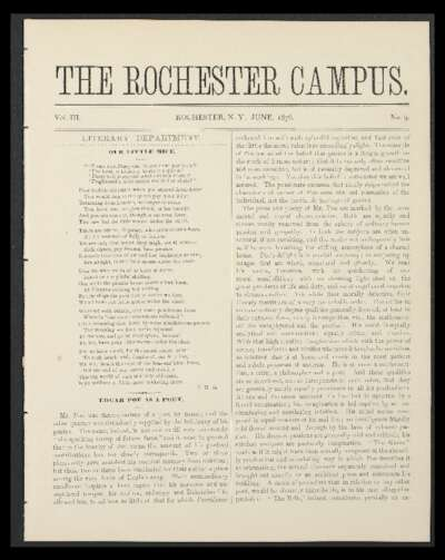 Rochester Campus (June 1876)