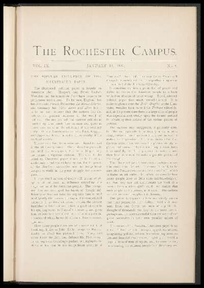 Rochester Campus (January 26, 1883)