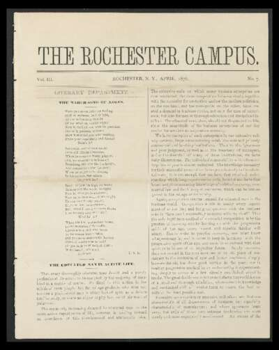 Rochester Campus (April 1876)