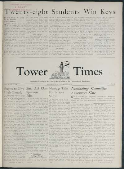 Tower Times (March 13, 1942)