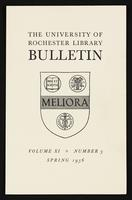 University of Rochester Library Bulletin, v. 11, no. 3