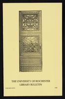p.1 University of Rochester Library Bulletin, v. 36