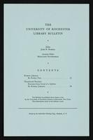 p.2 University of Rochester Library Bulletin, v. 16, no. 2