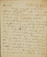 p.1 Letter from Moncrieff to Elliston, 1818