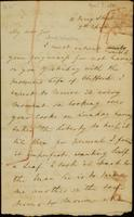 Letter from Moncrieff to Winston, 1816