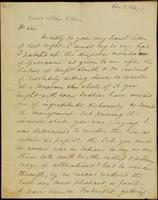Letter from Moncrieff to Elliston, 1821