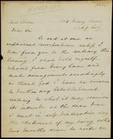 Letter from Moncrieff to Winston, 1825