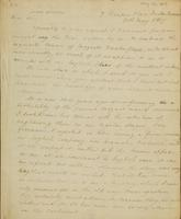 Letter from Moncrieff to Winston, 1817