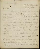 Letter from Moncrieff to Elliston