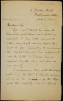 Letter from Moncrieff to Winston, 1842