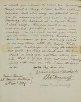 p.2 Letter from Moncrieff to Elliston, 1819
