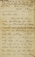 p.1 Letter from Moncrieff to Elliston, 1820
