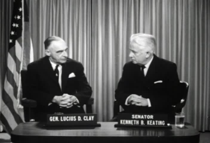Interview with General Lucius D. Clay by Senator Kenneth B. Keating, Sunday, April 7, 1963