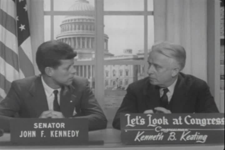 Interview of the Honorable John F. Kennedy, of Massachusetts, by Representative Kenneth B. Keating, over Station WHAM-TV, Rochester, New York, Station WBEN-TV, Buffalo, New York, and Station WROW-TV, Albany, New York