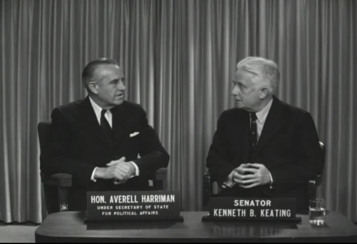 Interview with Honorable Averell Harriman, Under Secretary of State for Political Affairs, by Senator Kenneth B. Keating, Sunday, April 14 , 1963