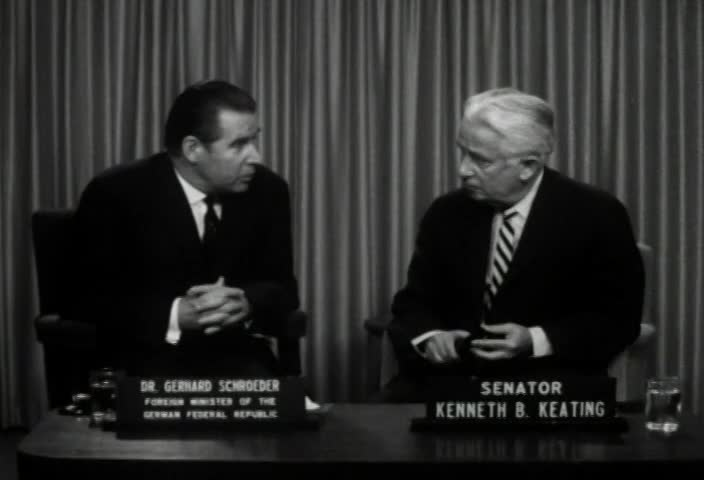 Interview with Dr. Gerhard Schroeder, Foreign Minister of the German Federal Republic, by Senator Kenneth B. Keating, Sunday, September 29, 1963