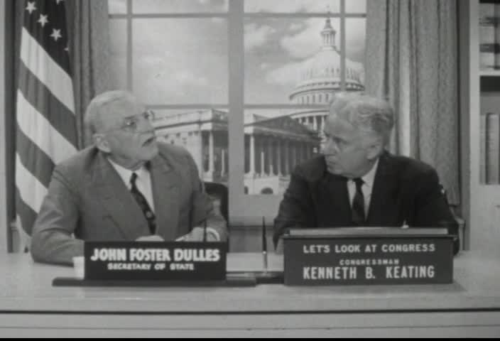Interview of the Honorable John Foster Dulles, Secretary of State, by Senator Kenneth B. Keating, Sunday, June 15, 1958