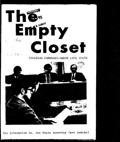 Empty Closet, no. 2 (February-March 1971)