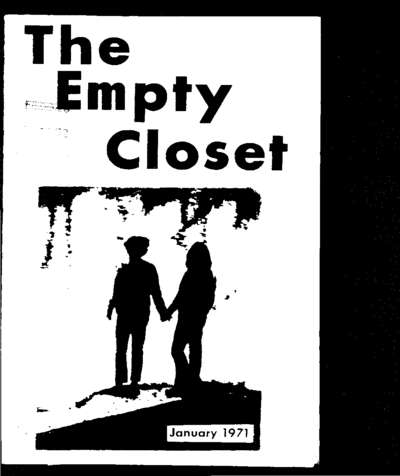 Empty Closet, no. 1 (January 1971)