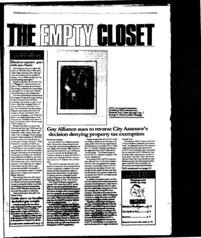 Empty Closet, no. 242 (November 1992)
