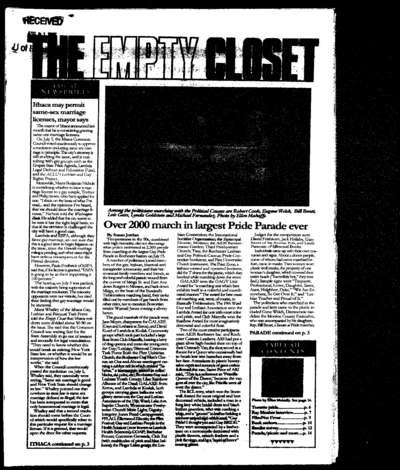 Empty Closet, no. 272 (August 1995)