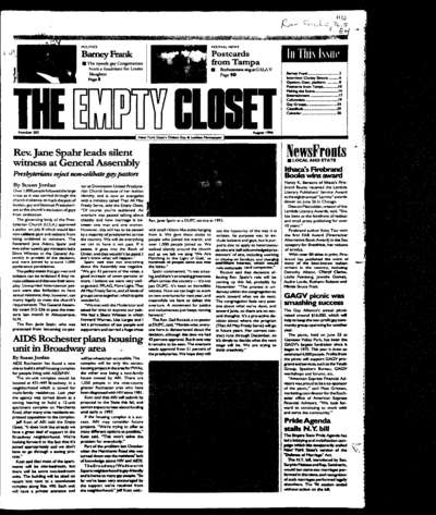 Empty Closet, no. 283 (August 1996)