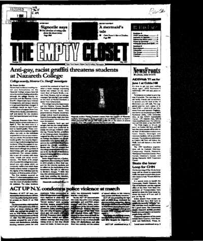Empty Closet, no. 291 (May 1997)