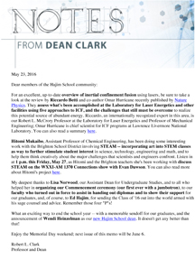 Notes from Dean Clark