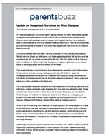 Parents Buzz (April 11, 2016) Special Edition: Update on Suspected Norovirus on River Campus