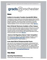 Grads @Rochester (October 18, 2015)