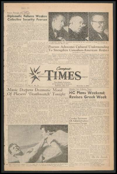Campus Times (December 05, 1958)