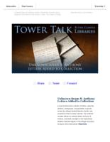 Tower talk (April, 2017)
