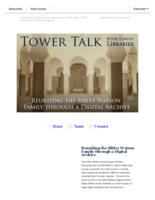 Tower talk (May, 2017)