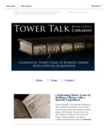 Tower talk (November, 2017)