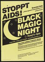 Stoppt AIDS! Black magic night: benefiz-gala. Gay and lesbian fashion show