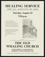 Healing service for all affected by AIDS. Tuesday, August 24