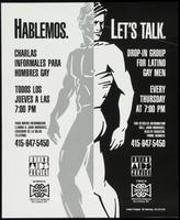 Hablemos. Let's talk