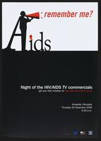 AIDS: remember me? Night of the HIV/AIDS TV commercials