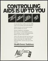 Controlling AIDS is up to you