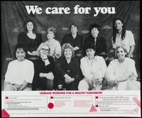 We care for you . . . lesbians working for a healthy tomorrow