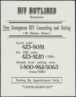 HIV hotlines Rochester