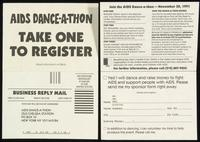 AIDS Dance-A-Thon. Take One to Register