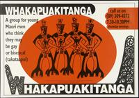Whakapuakitanga. A group for young Maori men who think they may be gay or bisexual (takataapui)