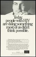 Today, people with HIV are doing something most of us didn't think possible