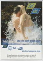 Get wet. Use only water based lubes