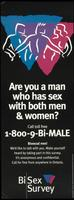 Are you a man who has sex with both men and women?