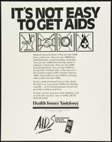 It's not easy to get AIDS