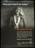 Have you heard me today? No rights. No life