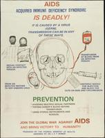 AIDS Acquired immune deficiency syndrome is deadly!
